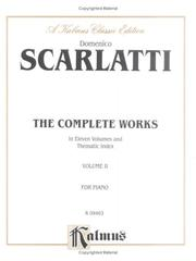Cover of: Complete Works of Scarlatti, Volume 2