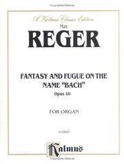 Cover of: Reger Fantasy & Fugue on Bach or