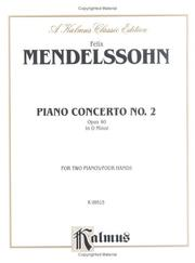 Cover of: Mendelssohn Piano Concerto #2