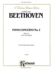 Cover of: Piano Concerto No. 2 in B-flat, Op. 19""