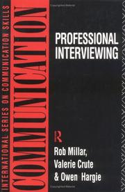 Cover of: Professional Interviewing