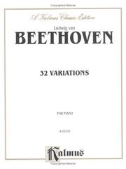 Cover of: Beethoven 32 Variations