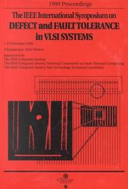Cover of: 1999 IEEE International Symposium on Defect and Fault Tolerance in Vlsi Systems (Dft