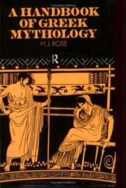 A handbook of Greek mythology by Rose, H. J.