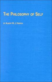 Cover of: The Philosophy of Self (Problems in Contemporary Philosophy) | Albert W. J. Harper