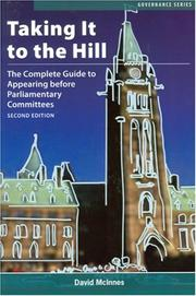 Cover of: Taking It to the Hill | David McInnes