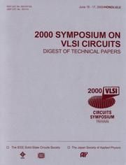 Cover of: 2000 Symposium of VLSI Circuits