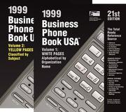 Cover of: Business Phone Book USA 1999 | Jennifer C. Perkins