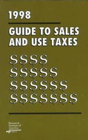 Cover of: 1998 Guide to Sales and Use Taxes (Serial)