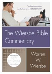 Cover of: The Wiersbe Bible Commentary Nt (Wiersbe Bible Commentaries) | Warren W. Wiersbe