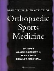 Cover of: Principles and Practice of Orthopaedic Sports Medicine |