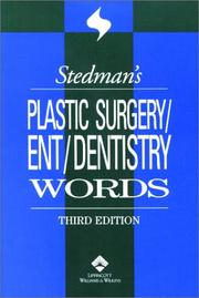 Cover of: Stedman's Plastic Surgery/Ent/Dentistry Words (Stedman's Word Book)