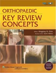 Cover of: Orthopaedic Key Review Concepts |