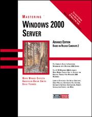 Cover of: Mastering Windows 2000 Server (Mastering)