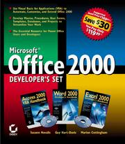Cover of: Microsoft Office 2000 Developer's Set
