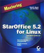 Cover of: Mastering StarOffice 5.2 for Linux