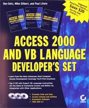 Access 2000 and VB Language (3-Volume Boxed Set With CD-ROMs) by Ken Getz, Mike Gilbert, Paul Litwin