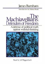 Cover of: The Machiavellians