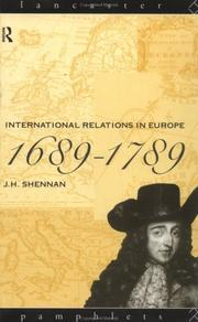 Cover of: International relations in Europe, 1689-1789