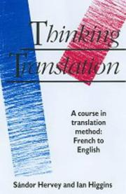Cover of: Thinking translation
