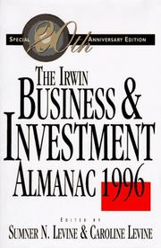 Cover of: The Irwin business and investment almanac, 1996