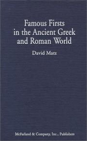 Cover of: Famous Firsts in the Ancient Greek and Roman World