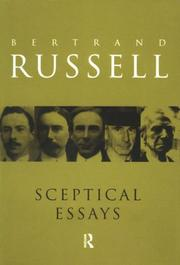 Cover of: Sceptical essays