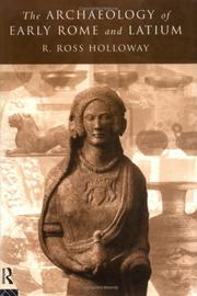 The archaeology of early Rome and Latium by R. Ross Holloway