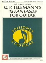 Cover of: G.P. Telemann's 12 Fantasies for Guitar