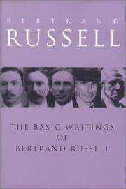 Cover of: Basic Writings of Bertrand Russell