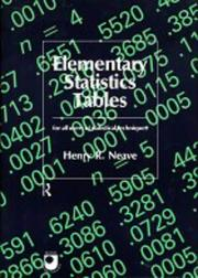 Cover of: Elementary statistics tables | Henry R. Neave