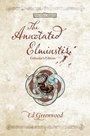 Cover of: The Annotated Elminster Collector's Edition (The Elminster Series)