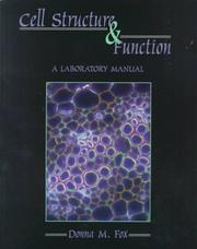Cover of: Cell Structure and Function