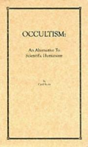 Cover of: Occultism