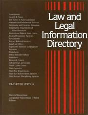 Cover of: Law and Legal Information Directory |