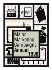 Cover of: Major Marketing Campaigns Annual 1999 (Major Marketing Campaigns Annual) | Thomas Riggs