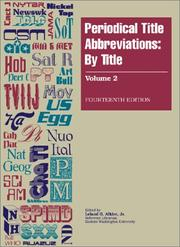 Cover of: Periodical Title Abbreviations | Leland G. Alkire