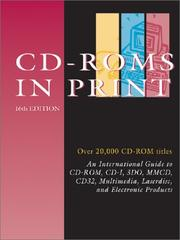 Cover of: Cd-Roms in Print (Cds in Print, 16th ed) |