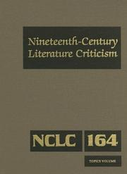 Cover of: Nineteenth-Century Literature Criticism |