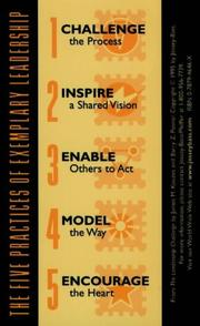 Cover of: The Leadership Challenge Card: Side A-The Ten Commitments of Leadership, Side B-The Five Practices of Exemplary Leadership (The Leadership Practices Inventory)