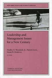Cover of: Leadership and Management Issues for a New Century |