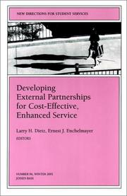 Cover of: Developing External Partnerships for Cost- Effective Enhanced Service |