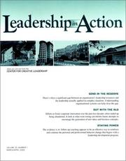 Cover of: Leadership in Action, No. 1, 2002