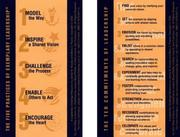 Cover of: The Leadership Challenge Card: Side A: The Ten Commitments of Leadership; Side B: The Five Practices of Exemplary Leadership (The Leadership Practices Inventory)