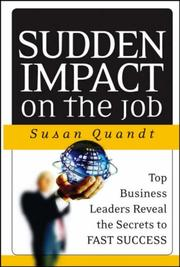 Cover of: Sudden Impact on the Job | Susan Quandt