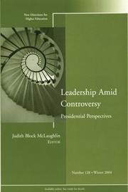Cover of: Leadership Amid Controversy: Presidential Perspectives  | Judith Block McLaughlin