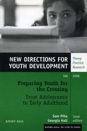 Cover of: Preparing Youth for the Crossing From Adolescence to Early Adulthood, Number 111 |