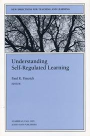Cover of: Understanding Self-Regulated Learning
