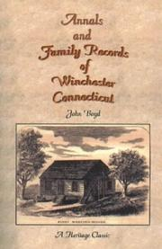 Cover of: Annals and Family Records of Winchester, Connecticut