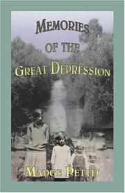 Cover of: Memories of the Great Depression | Madge Pettit